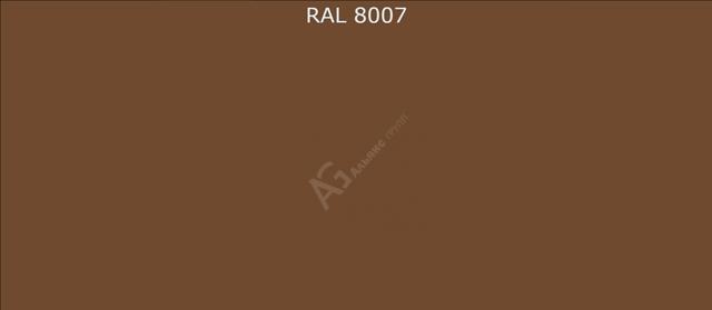 Порошковая краска RAL 8007 (Олень коричневый) полиэфирная гладкая глянцевая/25кг
