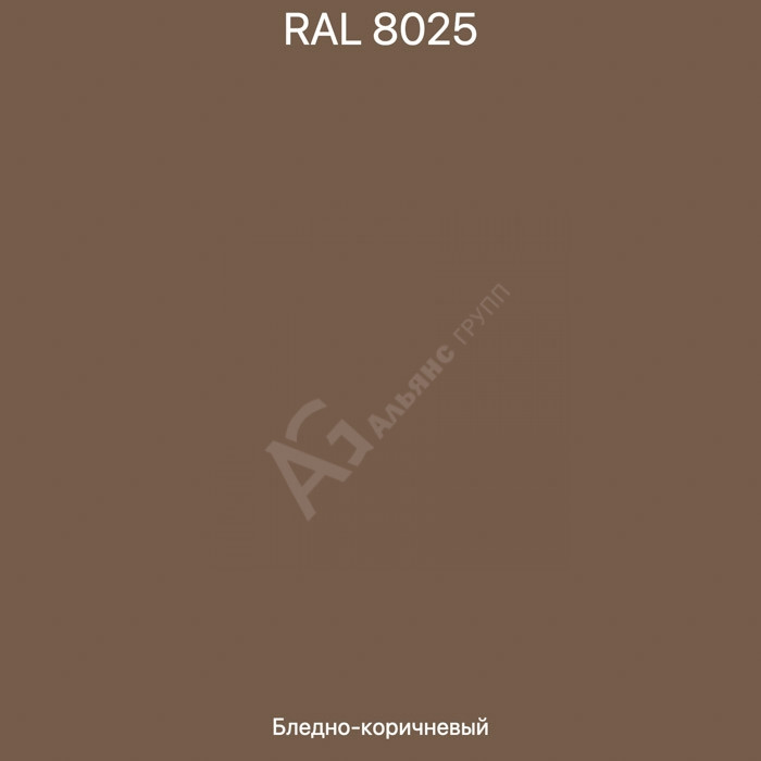 Порошковое полиэстеровое покрытие RAL8025 PP PARLAK 25кг, 09098.08025/08025-R18GLT